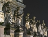 Baroque sculptures in Krakow, Poland
