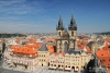 top views of the old town in Prague, Czech Republic