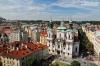 Aerial view of St. Nicholas church in Prague, Czech Republic