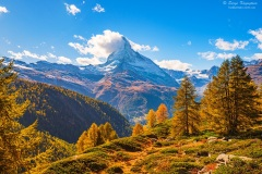 Stunning autumn scenery of famous alp peak Matterhorn. Swiss Alps, Valais, Switzerland,Stunning autumn scenery of famous alp peak Matterhorn. Swiss Alps, Valais, Switzerland