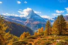 Stunning autumn scenery of famous alp peak Matterhorn. Swiss Alps, Valais, Switzerland,Stunning autumn scenery of famous alp peak Matterhorn. Swiss Alps, Valais, Switzerland