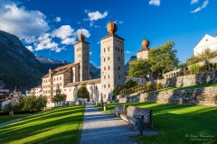 Incredible view of medieval Stockalper castle in Brig, Valais, Switzerland