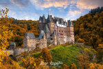 Amazing panoramic view of Burg Eltz castle in autumn., Rhineland-Palatinate, Germany