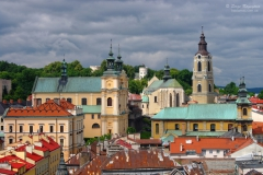 Aerial view of Przemysl town center, Poland